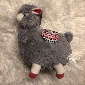 Plush Grey Llama